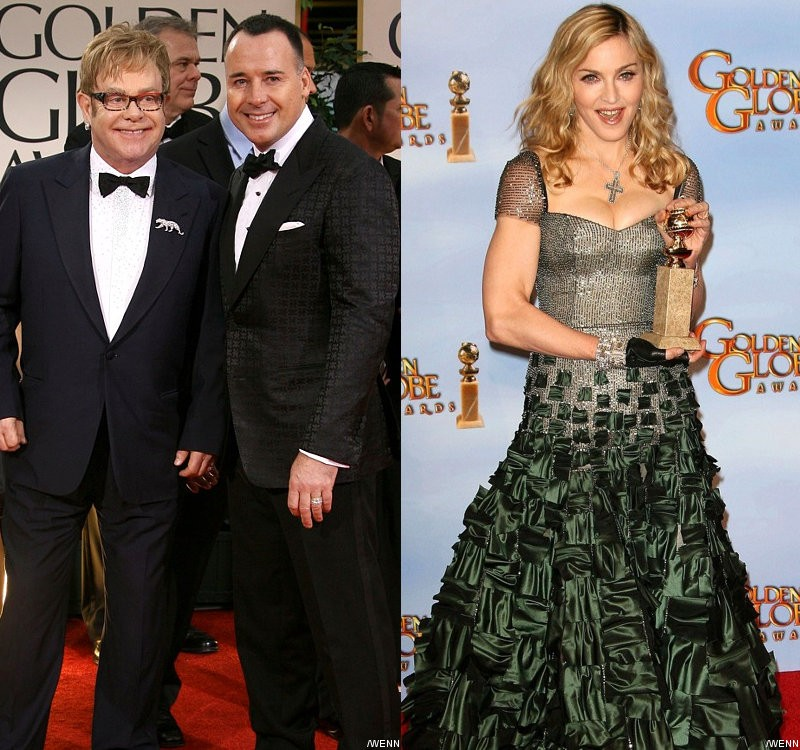 Elton John's Husband Apologizes for Blasting Madonna's Win at Golden Globes