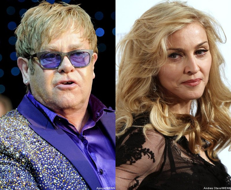 Elton John Says Madonna Turns Into 'Fairground Stripper'