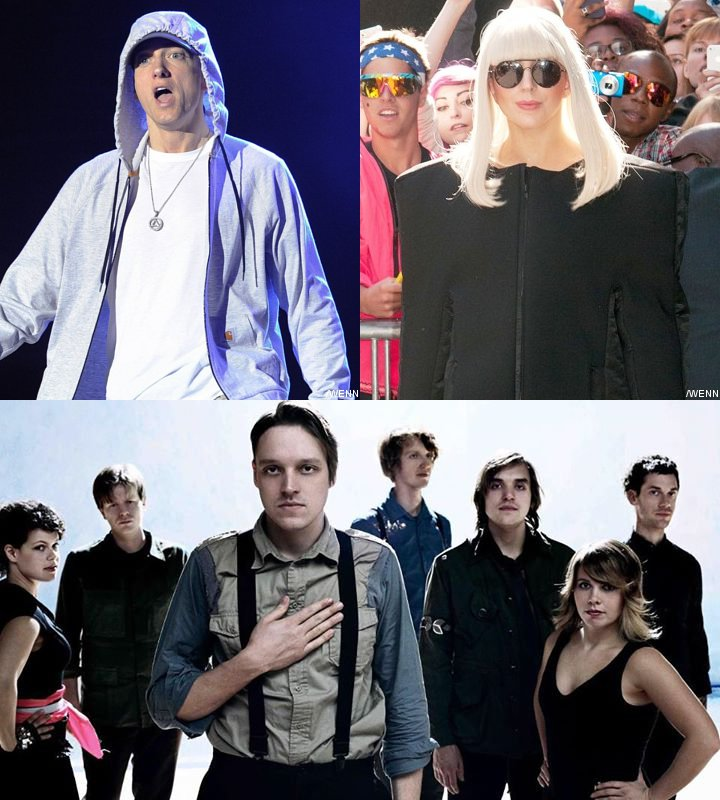 Eminem, Lady GaGa and Arcade Fire to Headline First YouTube Awards