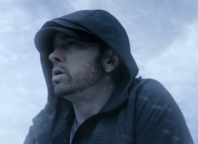 Eminem Walks on Frozen Lake in Music Video for 'Walk On Water' ft. Beyonce
