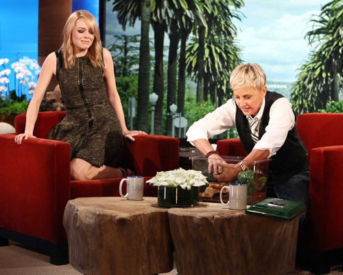 Video: Emma Stone Freaks Out Over Spider on 'Ellen DeGeneres'