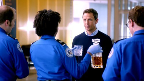 Emmys 2014 Promo: Seth Meyers Tries to Bring Drugs and Alcohol on Plane