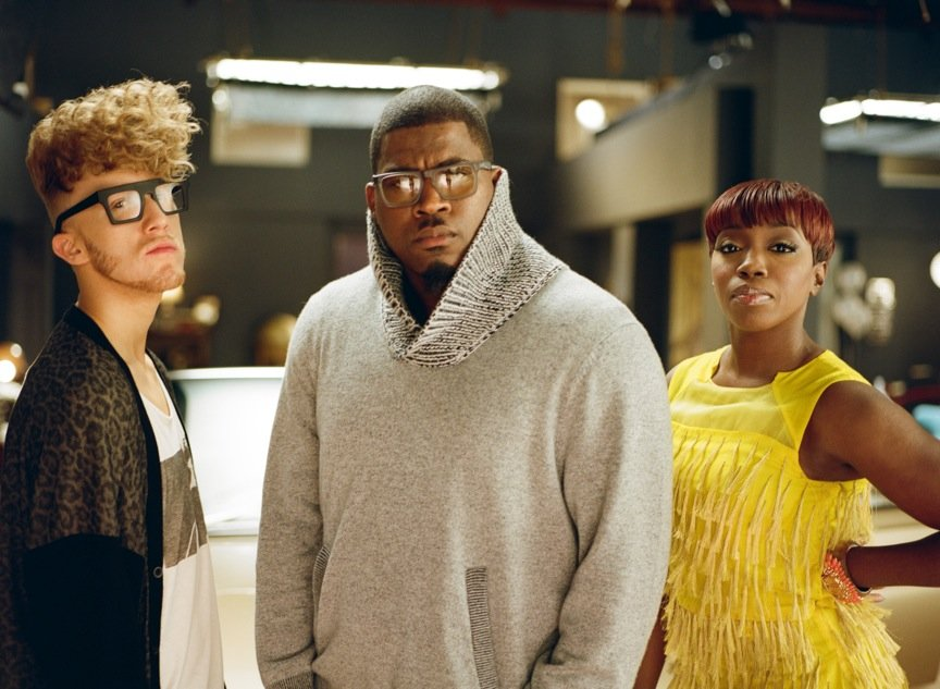 Estelle, David Banner and Daley in 'Benz' Music Video