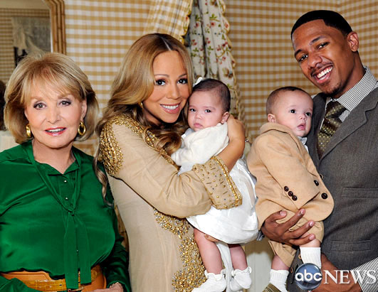 Face of Mariah Carey and Nick Cannon's Twins Finally Revealed