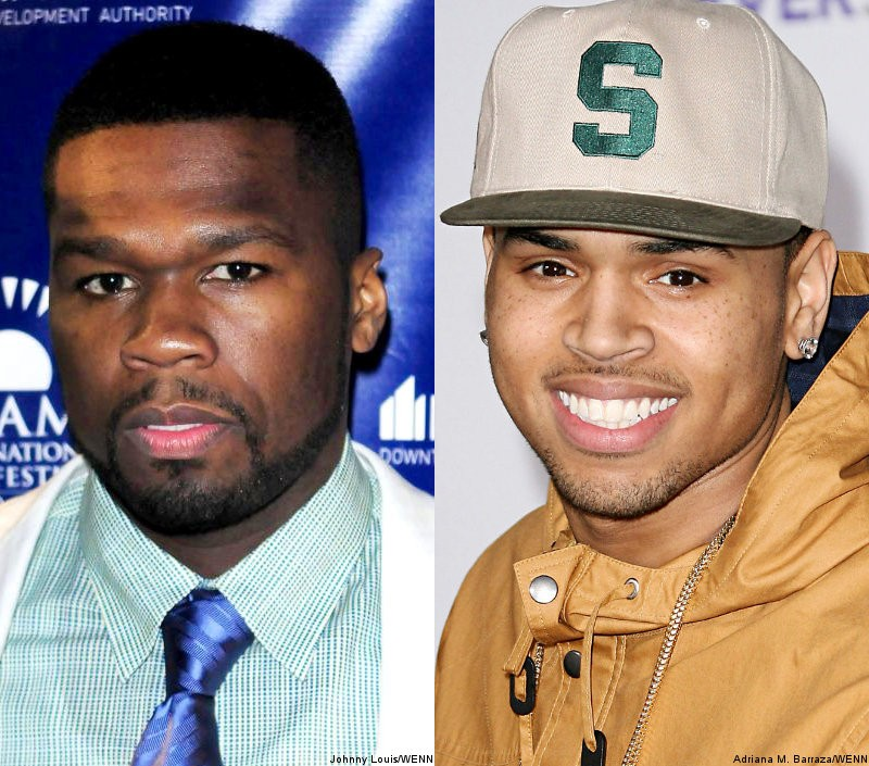 50 Cent Defends Chris Brown Over FOX News' 'Hating' Comment