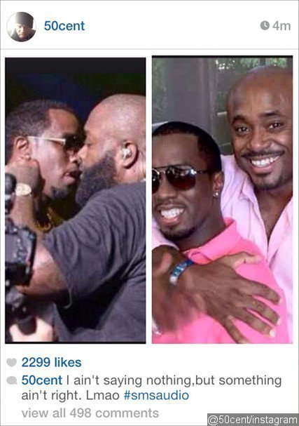 50 Cent Suggested P. Diddy and Rick Ross Are Gays in Instagram Pic