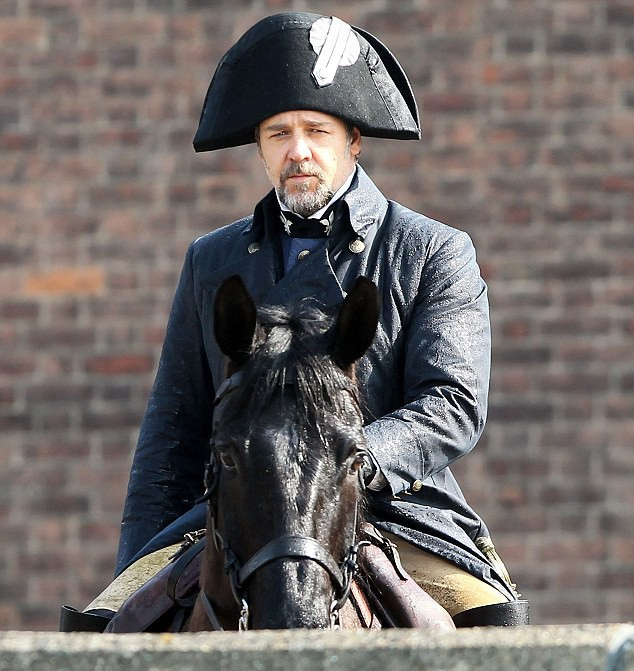 First Look at Russell Crowe as Inspector Javert on 'Les Miserables' Set