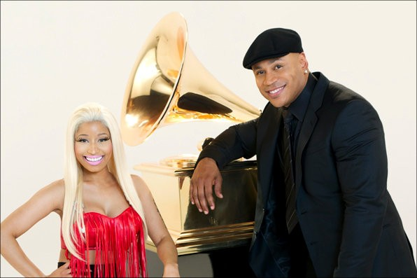 First Look at Nicki Minaj and LL Cool J in 2012 Grammy Awards Promo