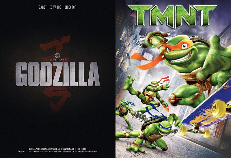'Godzilla'  to Compete Against 'Ninja Turtles' in Theaters 2014