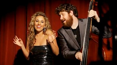 Haley Reinhart and Casey Abrams Debut 'Baby It's Cold Outside' Video