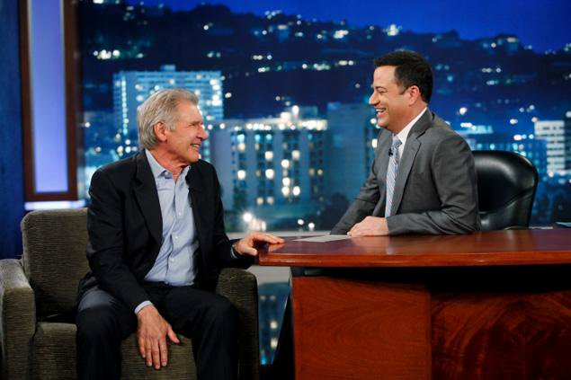 Video: Harrison Ford Walks Off 'Jimmy Kimmel Live!' Over Chewbacca