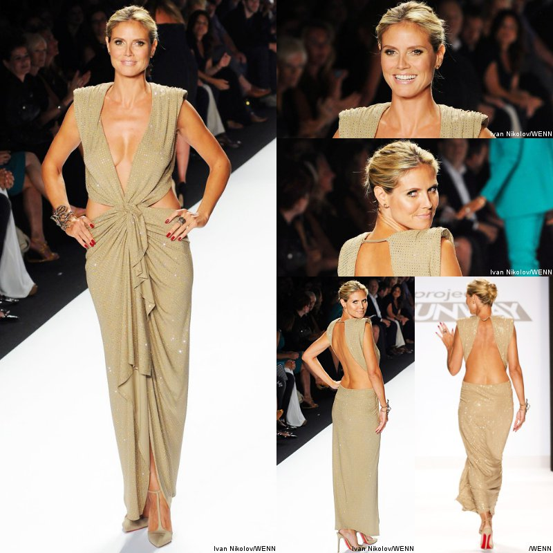 Pictures: Heidi Klum Bares Her Back at New York Fashion Week