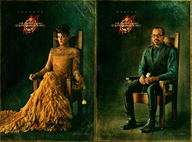 'Hunger Games: Catching Fire' Reveals Capitol Portraits of Johanna and Beetee