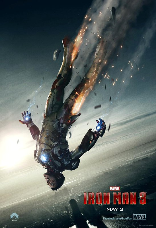 'Iron Man 3' Poster and Super Bowl Ad Teaser Highlight Battered Robert Downey Jr.
