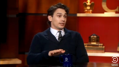 James Franco Offers to Work for 'The Colbert Report'