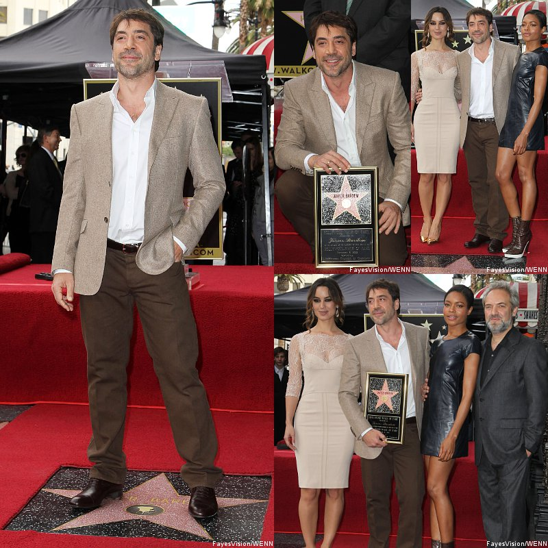 Pics: Javier Bardem Honored With Walk of Fame Star