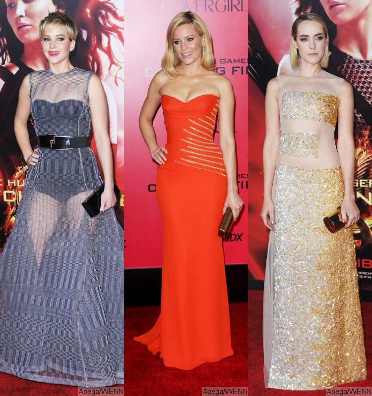 Jennifer Lawrence, Elizabeth Banks and Jena Malone Wow at 'Catching Fire' L.A. Premiere