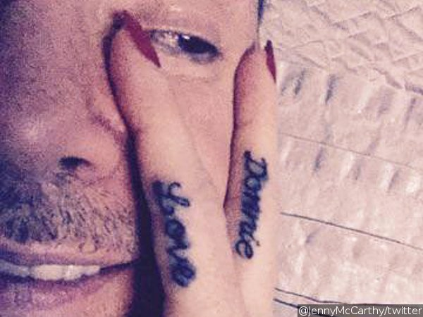 Jenny McCarthy Tattoos Husband Donnie Wahlberg's Name on Her Finger
