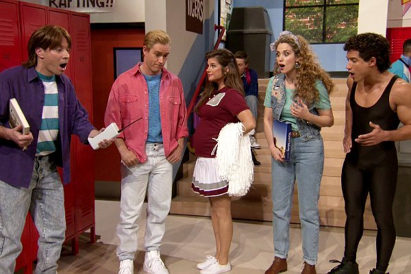 Jimmy Fallon and 'Saved the by the Bell' Cast Revisit Bayside High in 'Tonight Show' Sketch
