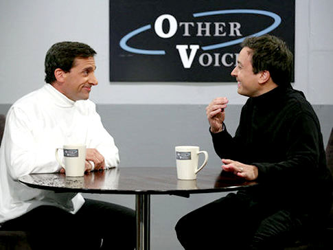 'Late Night Show' Video: Jimmy Fallon Interviews Steve Carell in 'Other Voices'