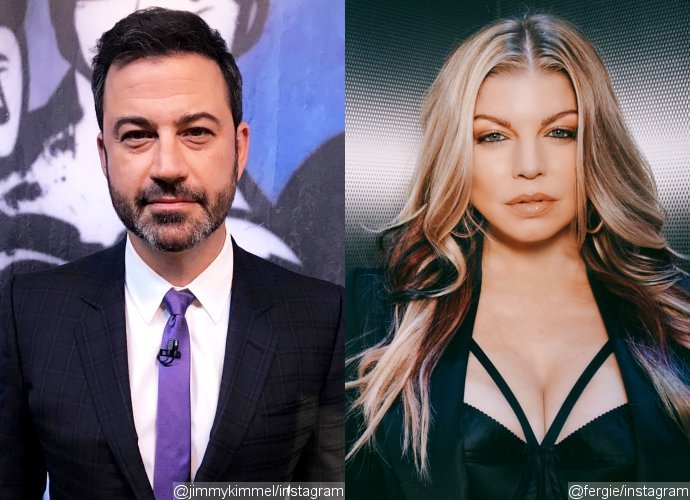 Jimmy Kimmel Explains His On-Camera Reaction to Fergie's 'Sultry' Rendition of National Anthem