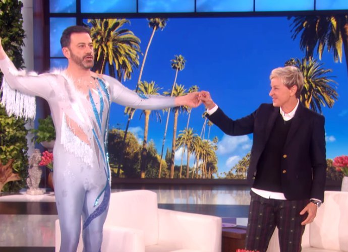 Jimmy Kimmel Has Ellen DeGeneres' 60th Birthday Gift on His Crotch