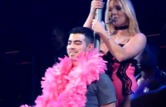 Joe Jonas Treated to Lap Dance From Britney Spears