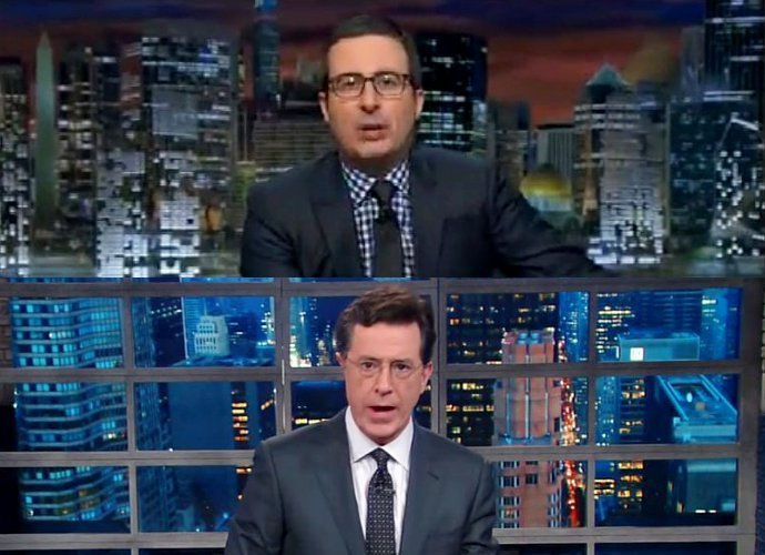 Videos: How John Oliver and Stephen Colbert Mock Donald Trump for Posing as His Own Publicist