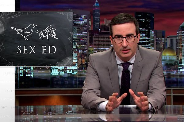John Oliver Slams America's Inaccurate Sex Education, Enlists Laverne Cox for His Sex Ed Video