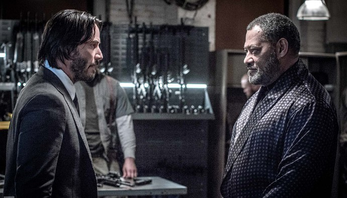 'John Wick: Chapter 2' Reunites Keanu Reeves and Laurence Fishburne in New Photo