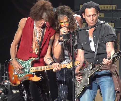 Video: Johnny Depp Joins Aerosmith Onstage for 'Train Kept A-Rollin' '