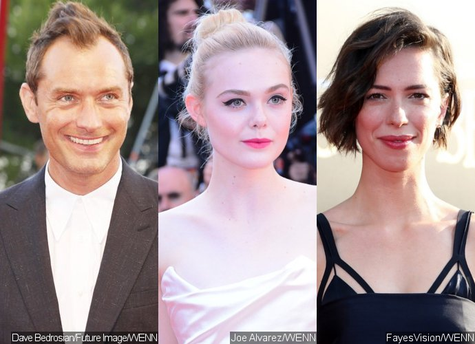 Jude Law, Elle Fanning and Rebecca Hall Brave the Rain When Filming Woody Allen's New Movie