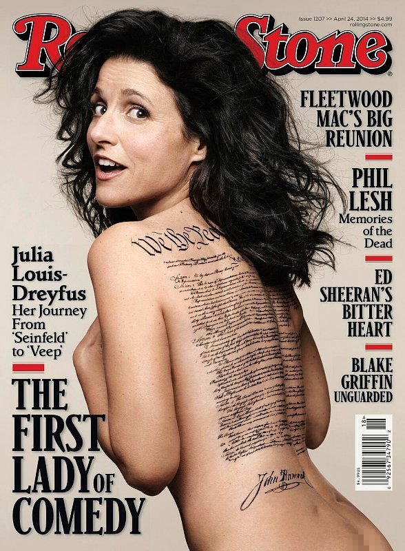 Julia Louis-Dreyfus Poses Naked on Rolling Stone's Cover