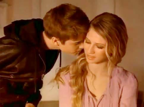 Justin Bieber Nuzzles Model's Neck in New Perfume Commercial