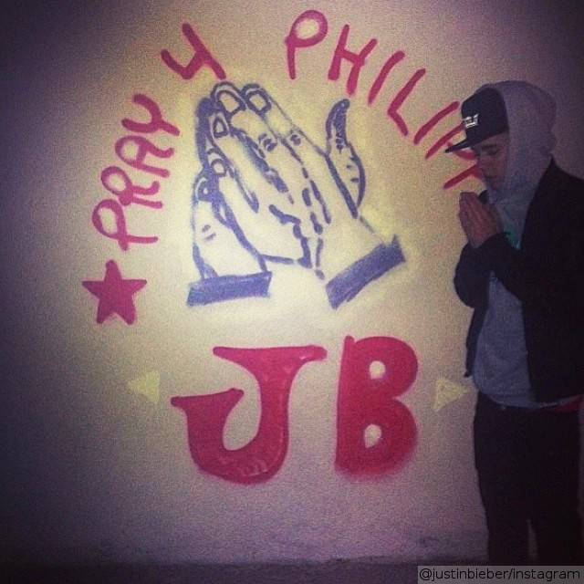 Justin Bieber Raising Money for Typhoon Haiyan Relief Effort by Using Graffiti