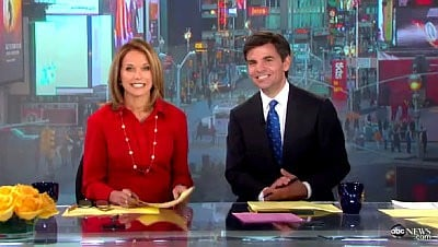 Video: Katie Couric Heading to 'Today' Studio on Her First Day Guest Hosting 'GMA'
