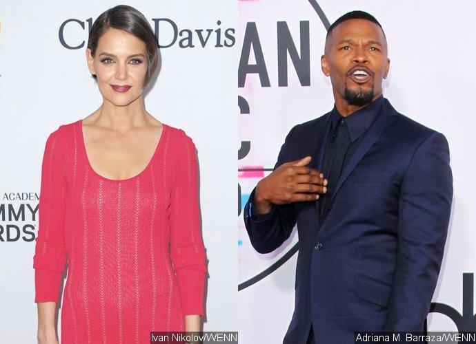 Katie Holmes and Jamie Foxx Show Rare PDA at 2018 Pre-Grammy Gala
