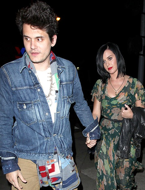 Katy Perry and John Mayer Holding Hands After Dinner Date