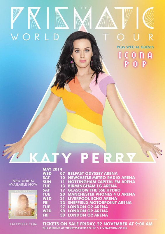 Katy Perry Announces 'Prismatic' World Tour Dates