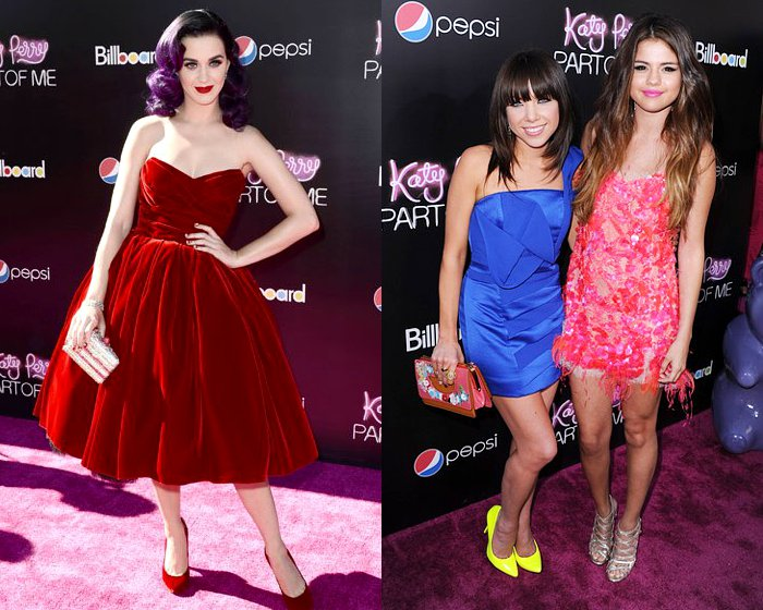 Katy Perry, Selena Gomez and Carly Rae Jepsen Glam Up at 'Part of Me' Movie Premiere