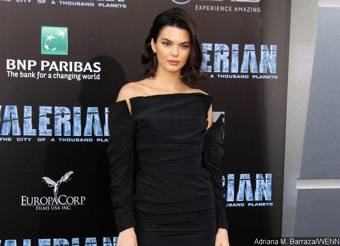 Kendall Jenner Is Almost Topless in Sheer Orange Top