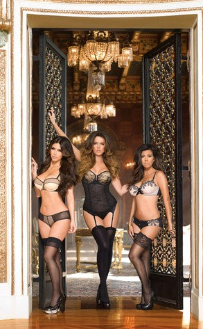 Kim Kardashian and Her Sisters Flaunt Curves in New Lingerie Ad