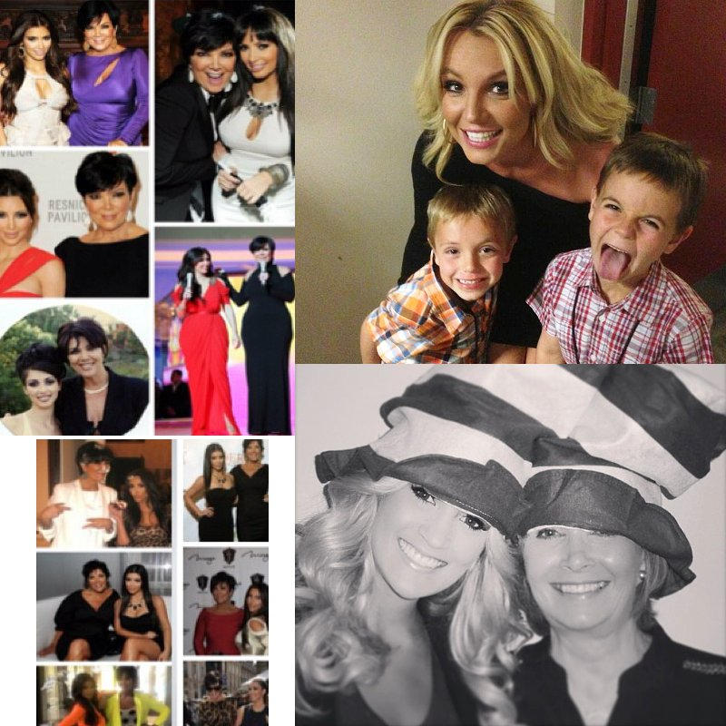 Kim Kardashian, Britney Spears, Carrie Underwood and Others Honor Mother's Day