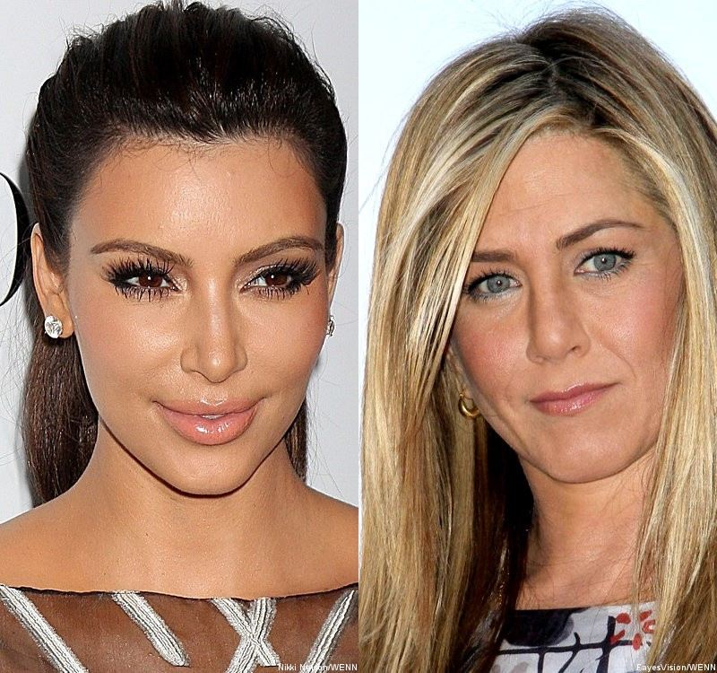 Kim Kardashian Gets Compared to Jennifer Aniston for Playing Coy About Love Life