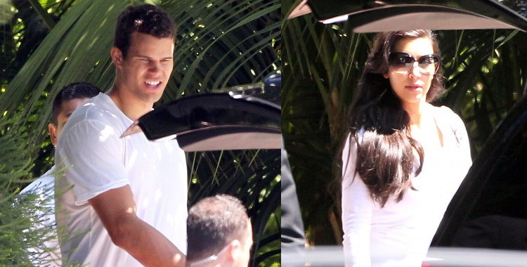 Kim Kardashian and Kris Humphries Photographed Leaving Hotel After Wedding