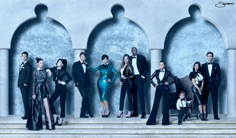 Kim Kardashian Offers a Look at Family's 3-D Christmas Card