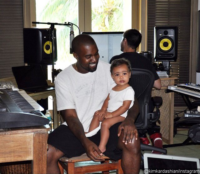 Kim Kardashian Shares Snap of Baby North Joining Daddy Kanye West in Studio