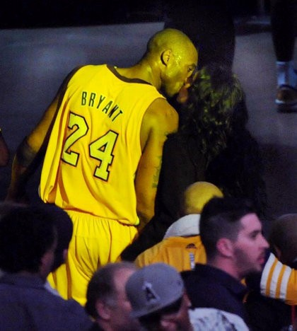 Kobe Bryant Sparks Reconciliation Rumor After Being Caught Kissing Estranged Wife