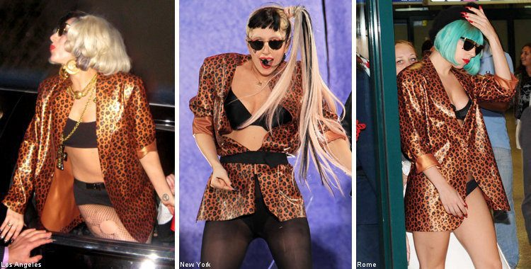 Lady GaGa Clad in Same Outfit Three Times in Less Than a Month