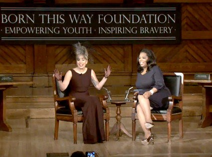 Lady GaGa Visits Harvard With Oprah Winfrey to Officially Launch Born This Way Foundation